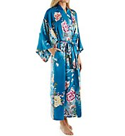Natori Serene Long Printed Charmeuse Robe B74021