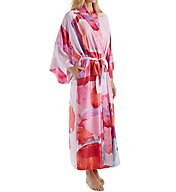 Natori Abstract Printed Silky Charmeuse Long Robe B74049